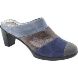 NAOT Suede Colorblock Fortuna Mules
